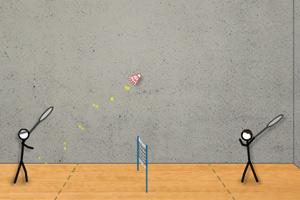 《火柴人打羽毛球》游戏画面1