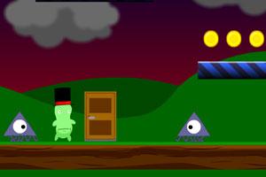 《小绿怪冒险》游戏画面1