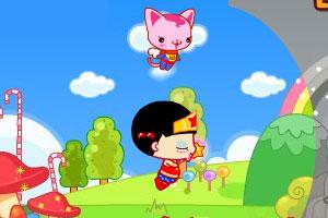 《小黑花花糖果超人》游戏画面1