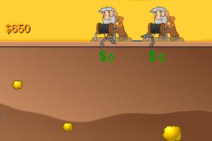 《黄金矿工双人修改版》游戏画面1