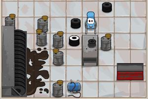 《汽车推轮胎》游戏画面1