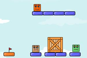 《弹跳的盒子》游戏画面1