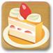 草莓切块蛋糕