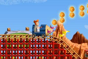 《摩登原始人过山车》游戏画面1