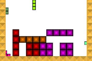 《彩色俄罗斯方块》游戏画面1