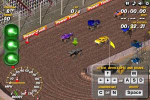 《越野车大赛选关版》游戏画面1