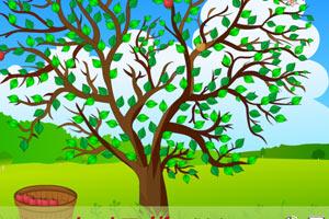 《苹果树下摘果果》游戏画面1