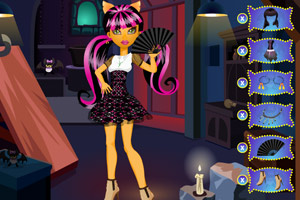 《扇子猫女郎》游戏画面1