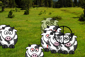 《射杀变异奶牛》游戏画面1