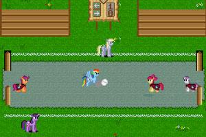 《彩色小马足球赛》游戏画面1
