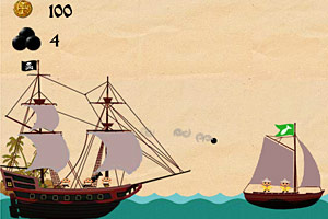 《海盗大炮炸渔船无敌版》游戏画面1