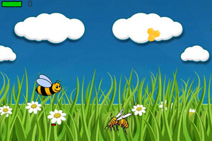 《小蜜蜂战斗机》游戏画面1