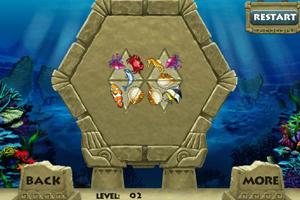 《热带海鱼拼图》游戏画面1