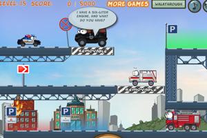 《奇趣撞车加强选关版》游戏画面1