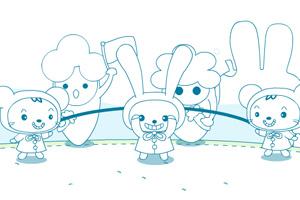 《小兔跳绳》游戏画面1