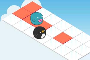 《小企鹅拖地板》游戏画面1