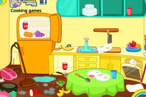 《清洁杂乱的厨房》游戏画面1