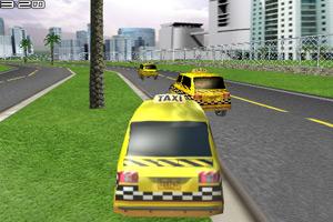 《3D的士赛车》游戏画面1