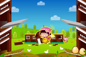 《小黑花花农场养鸡》游戏画面1