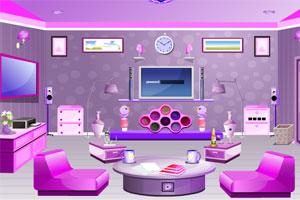《粉红客厅逃脱》游戏画面1