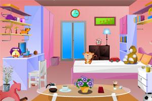 《逃脱小女孩的房间》游戏画面1