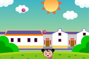 《细妹子躲避球》游戏画面1