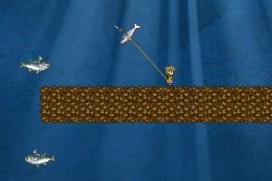 《潜水员斗鲨鱼》游戏画面1