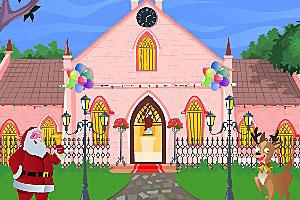 《装饰圣诞教堂》游戏画面1