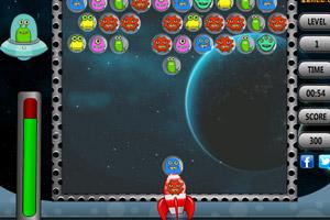 《外星人的泡沫射手》游戏画面1