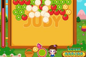 《阿sue水果泡泡龙》游戏画面1