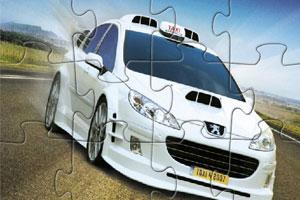 《标致赛车拼图》游戏画面1
