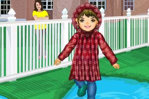 《雨天调皮小孩》游戏画面1