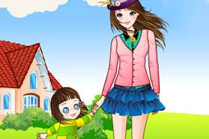 《美丽妈妈宝贝女儿》游戏画面1
