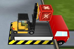 《3D仓库叉车》游戏画面1