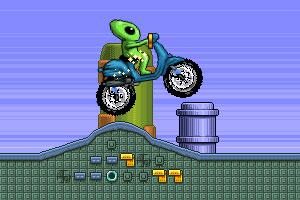《外星人骑摩托》游戏画面1