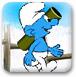 蓝精灵打雪仗
