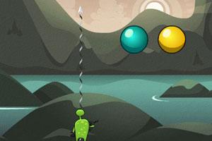 《外星小怪刺泡泡》游戏画面1