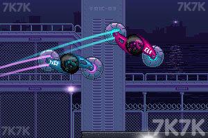 《双人旋转赛车选关版》游戏画面1