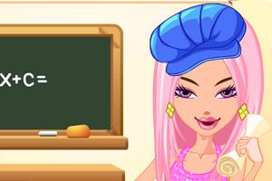 美女老师化妆