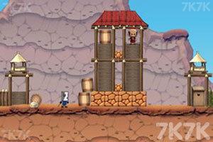 《大炮炸小人》游戏画面1