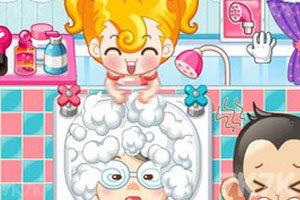 《小美洗发店》游戏画面1