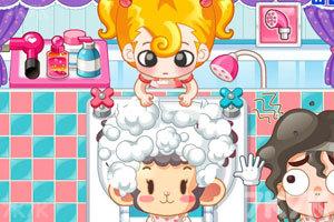 《小美洗发店》游戏画面2