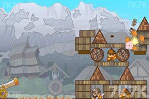 《大炮轰小人2》游戏画面1