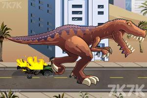 《恐龙大战火箭车》游戏画面4