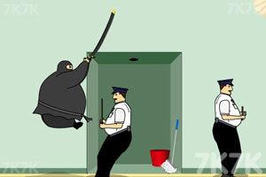 《胖忍者打保安》游戏画面9