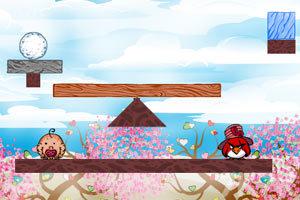 《不愤怒的小鸟情人节版》游戏画面5