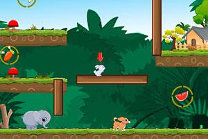 《送三只小动物回家》游戏画面1