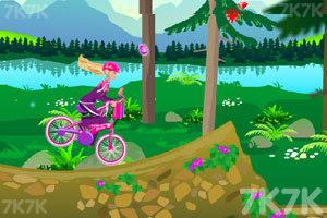 《芭比骑自行车》游戏画面4
