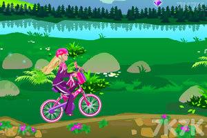 《芭比骑自行车》游戏画面3