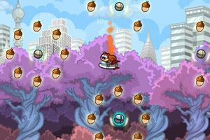 《火箭松鼠吃坚果无敌版》游戏画面1